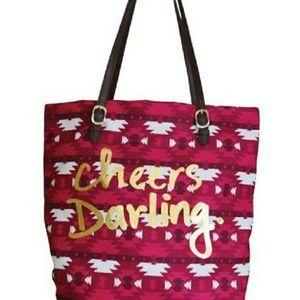 "Handbags - ""Cheers Darling"" Canvas Tote"